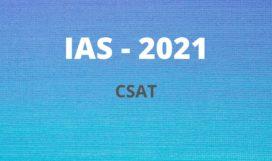 IAS-2021 CSAT