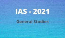 IAS 2021 General Studies